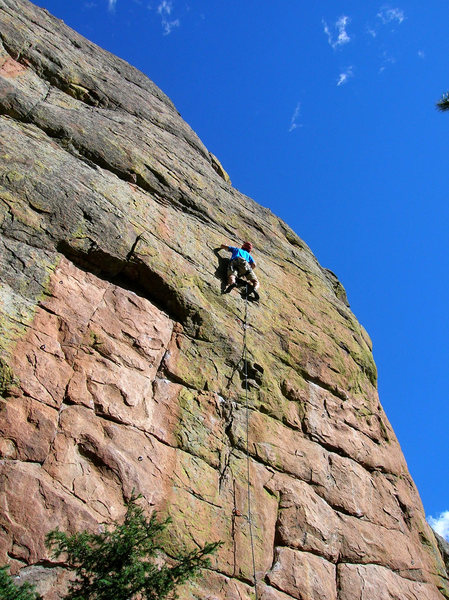 Rock Climbing Photo: Rich delights in the sustained effort.