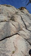 Rock Climbing Photo: Start of climb straight up weakness to ramp on rig...
