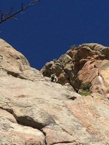 Rock Climbing Photo: Moving up from first belay.