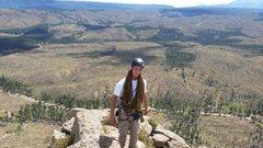 Rock Climbing Photo: Michael on top.