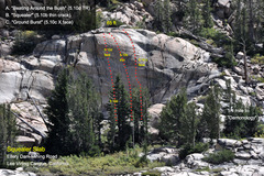 Rock Climbing Photo: Telephoto of the Squealer Slab from the Vista View...
