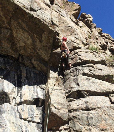 First half of the climb.