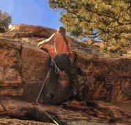Rock Climbing Photo: Bob on Trident.