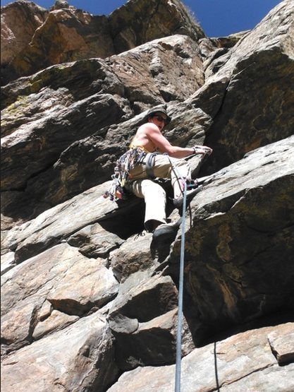 Rock Climbing Photo: leading some pitch who knows from a few years back...