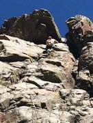 Rock Climbing Photo: warming up on an easy trad route on the sports wal...