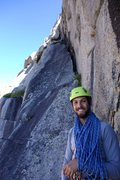 Rock Climbing Photo: Mid-way up the ramps on the approach to Wolf Head,...