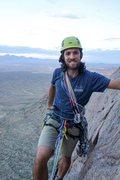 Rock Climbing Photo: High up on Checkerboard Wall, Organ Mountains, NM