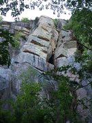 Rock Climbing Photo: A good look at the upper seem