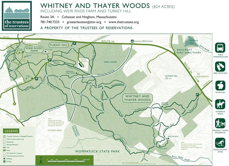 A good map of Whitney Thayer Woods.