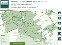 Rock Climbing Photo: A good map of Whitney Thayer Woods.