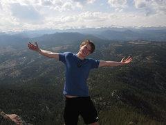 Rock Climbing Photo: On Bear Peak, Boulder CO