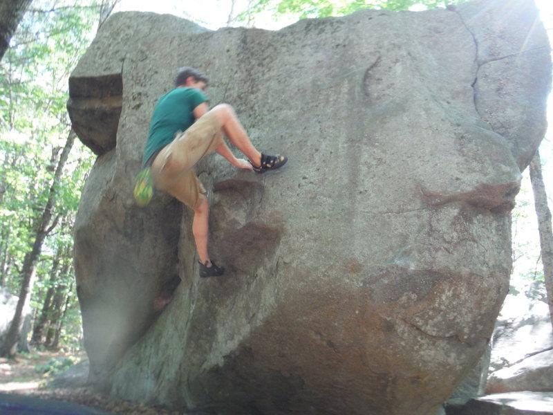 The super cool move on the climb!