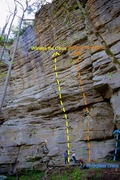 Rock Climbing Photo: Fruit Wall, Hourglass Crack area. Spring 2015.