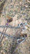Rock Climbing Photo: Summit bolts / hangers as of 9/12/15