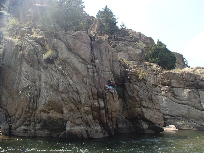 Rock Climbing Photo: Scary part.