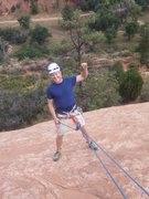 Rock Climbing Photo: Fist pump before abseil from The Good Stuff at Red...