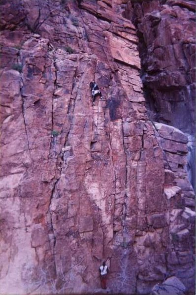 Rock Climbing Photo: Joel Adams belaying Adam Pierce on the FA. Courtes...
