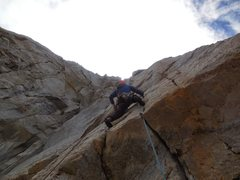 Rock Climbing Photo: Pulling over the roof into the awesome hand crack ...
