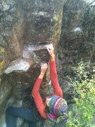 Rock Climbing Photo: Finishing move of Arnie Direct.