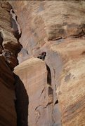 Rock Climbing Photo: Getting cozy to hand drill another set of bomber a...