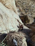Rock Climbing Photo: Navigating pitch 1 of Blood Drive.  Photo by Gregg...