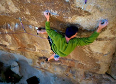 Rock Climbing Photo: Rare photo of a climber on Integrity.  Climber and...