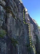 Rock Climbing Photo: Upper crack. Pre-scrub