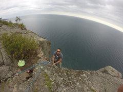 Rock Climbing Photo: Brian belaying on Oz.