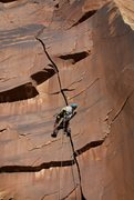 Rock Climbing Photo: Down low on the route tight fists...