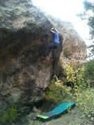 Rock Climbing Photo: Liz topping out TJ&E.