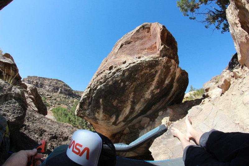 Rock Climbing Photo: Looking down toward the road and NASA.