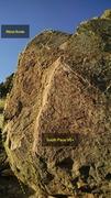 Rock Climbing Photo: South Face of 5.8 Boulder.