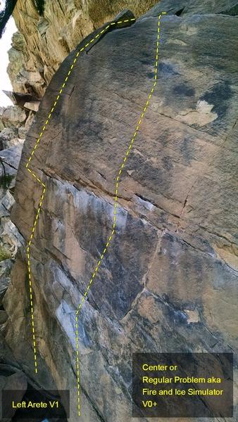 Rock Climbing Photo: Closeup of routes.