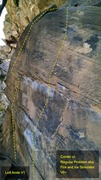 Rock Climbing Photo: Closeup of routes.