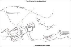 Rock Climbing Photo: Map of Shenandoah Boulders.