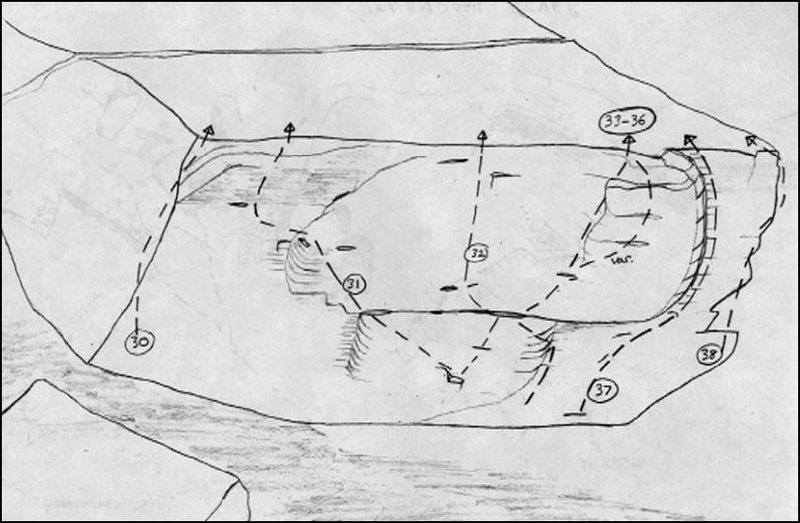 Beta drawing of Moonshine Boulder