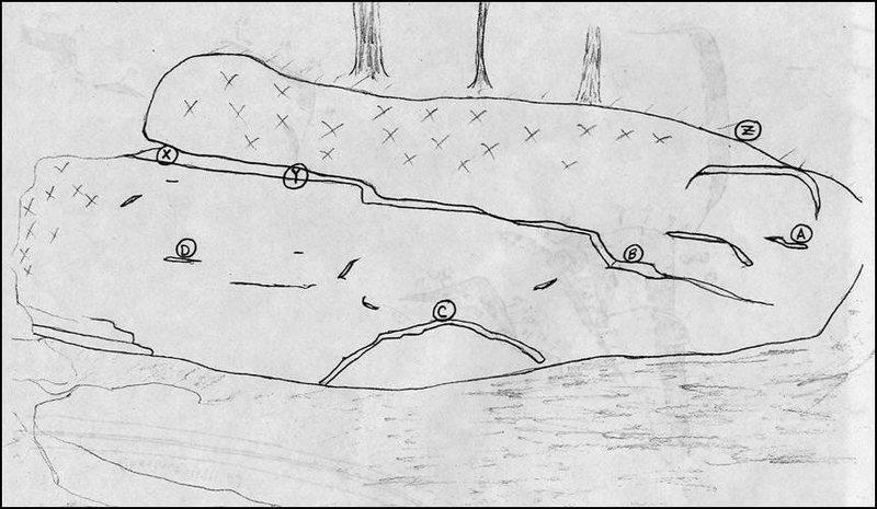 Rock Climbing Photo: Beta drawing of West Virginia Wall