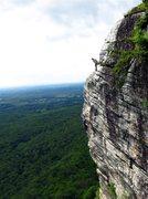 Rock Climbing Photo: Belaying Lynn on last pitch of High Exposure. Phot...