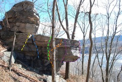 Rock Climbing Photo: Outcrop at the far right end of the area. BiCeptio...