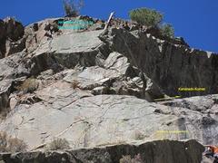 Rock Climbing Photo: Headwall start of Kanarado. Climb Scotch on the Ro...