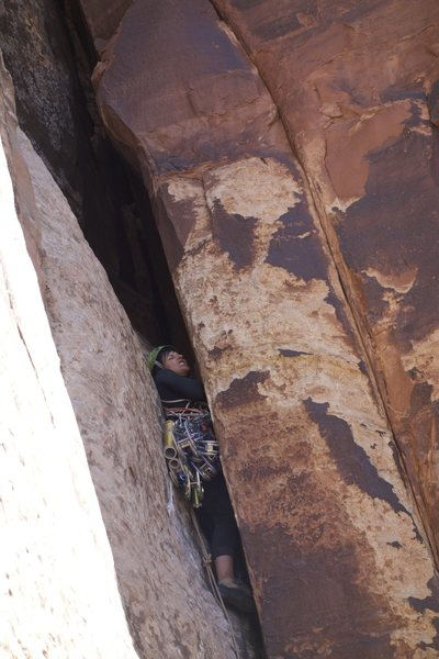 Rock Climbing Photo: squeezing