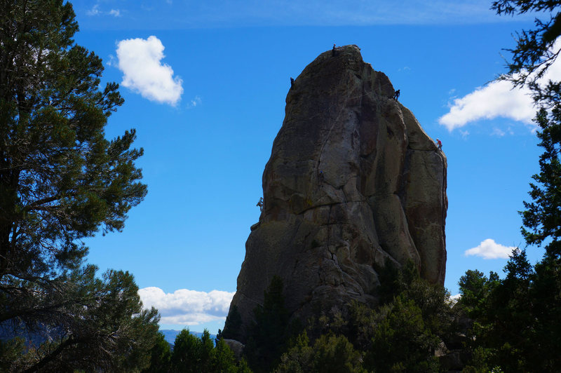 Rock Climbing Photo: Morning Glory looking pretty busy during the Idaho...