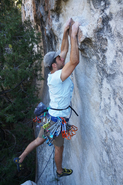 Rock Climbing Photo: Dyno for some, reach for others