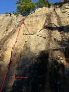 Rock Climbing Photo: Here is the 2 obvious black stripes!