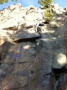 Rock Climbing Photo: My humble picture of one of the busiest route of R...