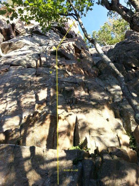 Rock Climbing Photo: Brule du ciel is often forgotten but a fun route