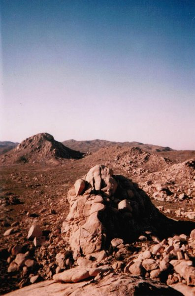 Rock Climbing Photo: First Dome is the close formation and Bone Daddy i...