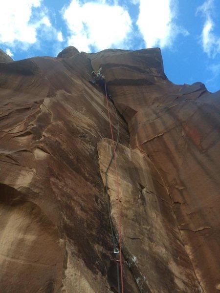 Rock Climbing Photo: on sight, first ascent