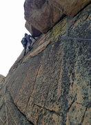Rock Climbing Photo: Further up the corners