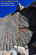 Rock Climbing Photo: One Crack Below (5.10a thin)